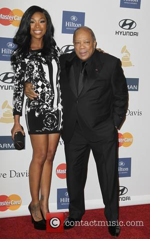 Brandy and Quincy Jones - Clive Davis & The Recording Academy's 2013 Pre-Grammy Gala Los Angeles California United States Saturday...