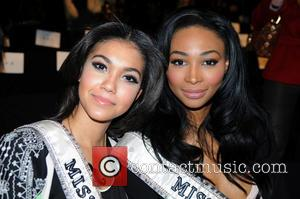 Miss Teen USA Logan West and Miss USA Nana Meriwether - Mercedes-Benz New York Fashion Week Autumn/Winter 2013 New York...