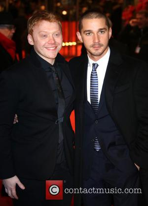 Rupert Grint and Shia Labeaouf (r)