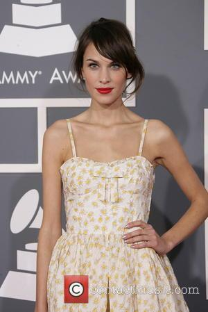Alexa Chung at the 2013 Grammys