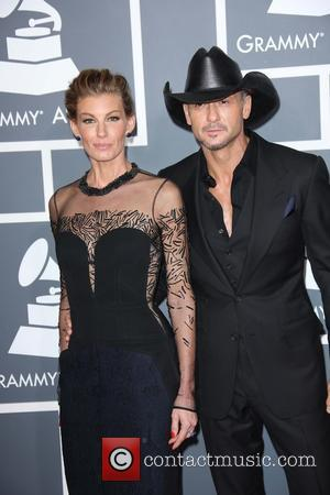 Faith Hill and Tim McGraw - 55th Annual GRAMMY Awards at Staples Center - Arrivals at Grammy Awards, Staples Center...