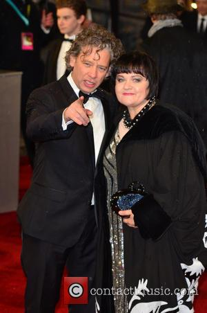 Dexter Fletcher and guest - Bafta Arrivals London United Kingdom Sunday 10th February 2013