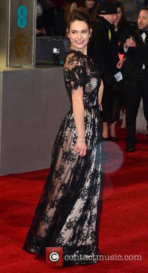 Lily James - Bafta Arrivals London United Kingdom Sunday 10th February 2013