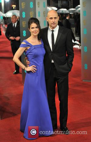 Mark Strong and Liza Marshall - Bafta arrivals London United Kingdom Sunday 10th February 2013