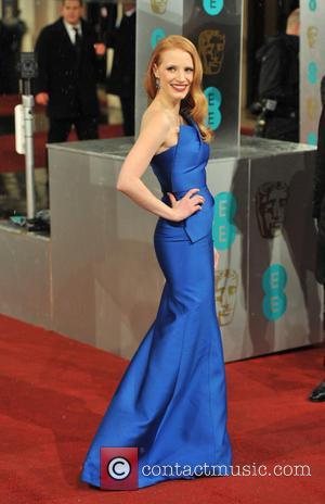 Jessica Chastain - EE BAFTA arrivals London United Kingdom Sunday 10th February 2013