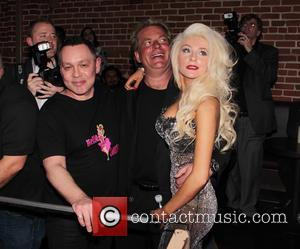 Courtney Stodden, Alex Stodden and Doug Hutchison - Courtney Stodden music video party Los Angeles California USA Sunday 10th February...