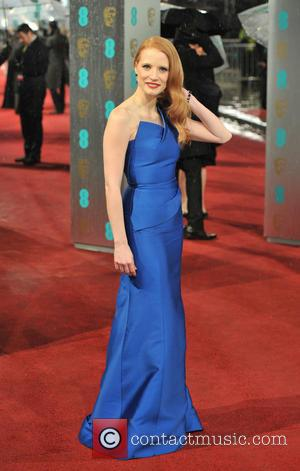 Jessica Chastain - EE BAFTA arrivals London United Kingdom Sunday 10th February 2013