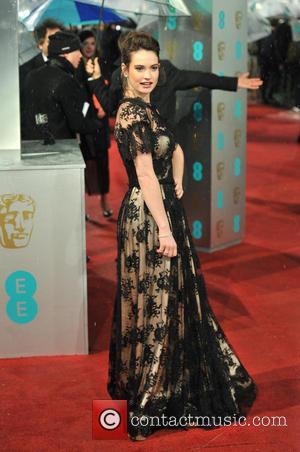 Lily James - EE BAFTA arrivals London United Kingdom Sunday 10th February 2013