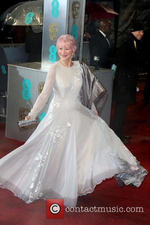 Helen Mirren, Pink Hair, Baftas 2013