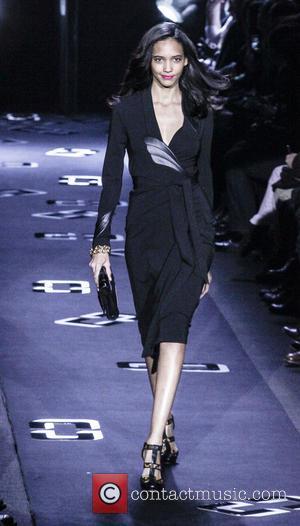 Diane Von Furstenberg and Model