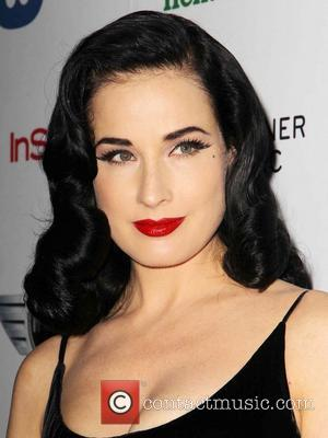 Dita Von Teese - The 55th Annual GRAMMY Awards - Warner Music Group 2013 Grammy Celebration Presented By Mini Los...