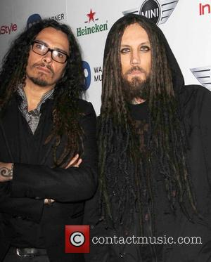 James Shaffer and Brian Welch Of the band Korn - The 55th Annual GRAMMY Awards - Warner Music Group 2013...