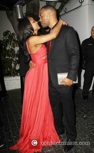 Meagan Good and Devon Franklin - The 55th Annual GRAMMY Awards - Warner Music Group 2013 Grammy Celebration Presented By...