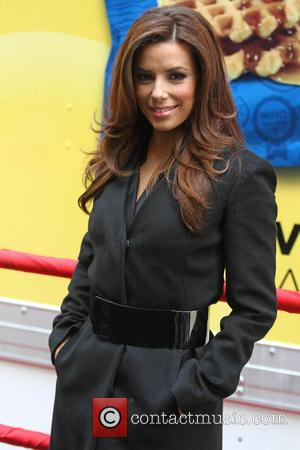 Eva Longoria - Eva Longoria unveil three finalist flavors in Lay's 'Do Us A Flavor' contest at NY STOCK EXCHANGE...