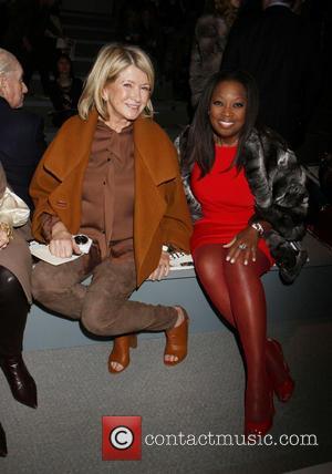 Martha Stewart and Star Jones - New York Fashion Week Dennis Basso - Front Row at New York Fashion Week...