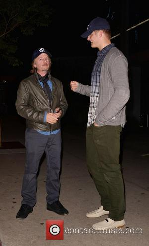David Spade and Alexander Ludwig - Celebrities outside BOA Steakhouse in West Hollywood - Los Angeles, California, United States -...