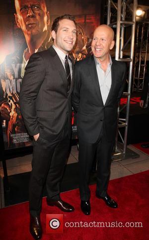 Jai Courtney and Bruce Willis -