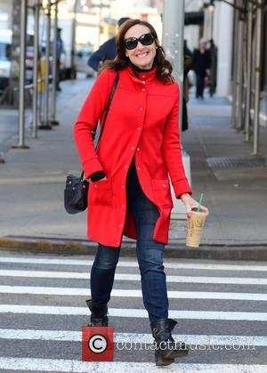 Molly Shannon - Molly Shannon seen in good spirits at New York - New York City, New York, United States...