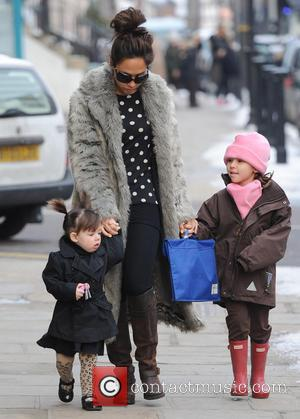 Myleene Klass, Hero Quinn and Ava Quinn - Myleene Klass on the school run - London, United Kingdom - Wednesday...