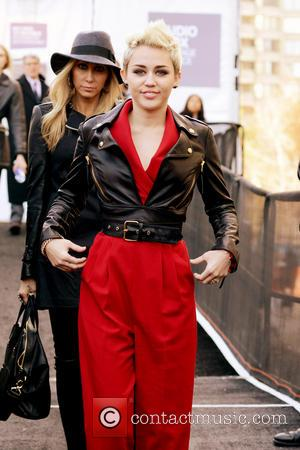 Miley Cyrus - Mercedes-Benz New York Fashion Week Spring/Summer 2013...