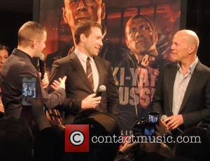 Jai Courtney and Bruce Willis - Bruce Willis and Jai Courtney at AMC theatre - New York City, New York,...