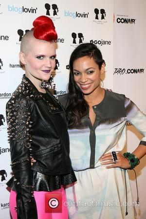 Erin Woods and Rosario Dawson