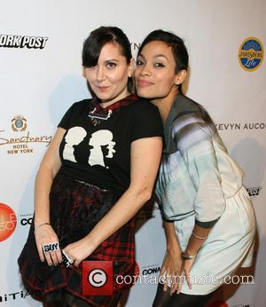 Stacy Igel and Rosario Dawson