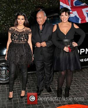 Kim Kardashian, Sir Philip Green and Kris Jenner