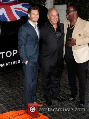 Ryan Seacrest, Sir Philip Green and Randy Jackson
