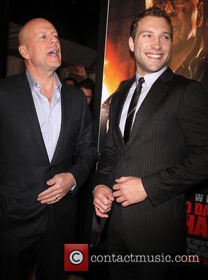 Bruce Willis and Jai Courtney