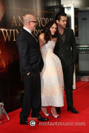 Akiva Goldsman, Jessica Brown Findlay and Colin Farrell