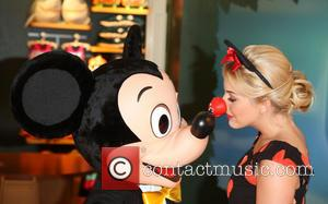 Lydia Bright and Mickey Mouse