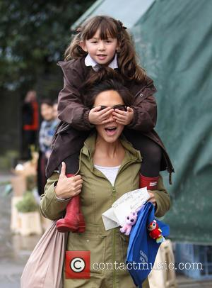 Myleene Klass and Hero Quinn - Myleene Klass and daughter Hero - London, United Kingdom - Thursday 14th February 2013