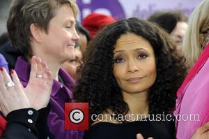 Thandie Newton - One Billion Rising flashmob in Parliament Square