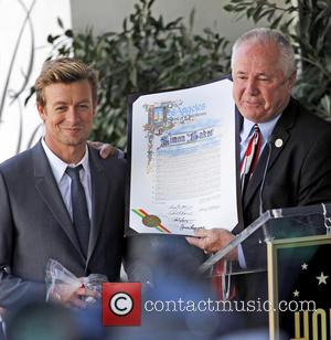 Simon Baker is honoured with a star on the Hollywood Walk of Fame - Los Angeles, California, United States -...