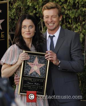 Simon Baker and Robin Tunney - Simon Baker is honoured with a star on the Hollywood Walk of Fame -...