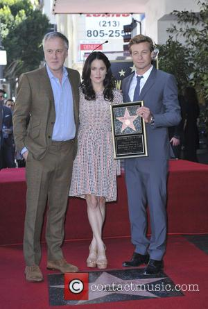 Bruno Heller, Robin Tunney and Simon Baker - Simon Baker is honoured with a star on the Hollywood Walk of...