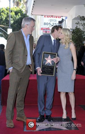 Bruno Heller, Simon Baker and Naomi Watts - Simon Baker is honoured with a star on the Hollywood Walk of...