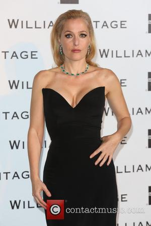Gillian Anderson - 3rd Annual WilliamVintage dinner held at St. Pancras Hotel - Arrivals - London, United Kingdom - Thursday...