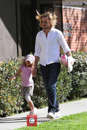 Gabriel Aubry and Nahla Aubry - Gabriel Aubry takes his daughter Nahla Aubry to school - Los Angeles, California, United...