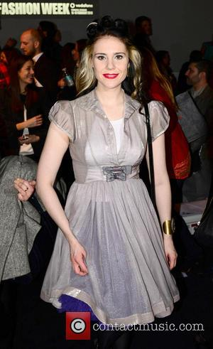 Kate Nash - London Fashion Week - Autumn/Winter 2013 - Somerset House at London Fashion Week, Somerset House - London,...
