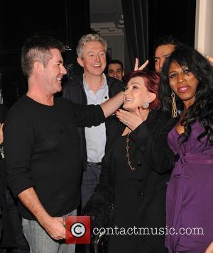 Simon Cowell and Sharon Osbourne