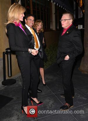Larry King and Shawn Southwick - RivaBella restaurant celebrities - Los Angeles, California, United States - Friday 15th February 2013