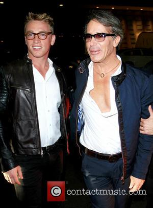 Nick Gruber and Lloyd Klein - Lloyd Klein celebrates his birthday with Nick Gruber at Mr Chow restaurant in Beverly...