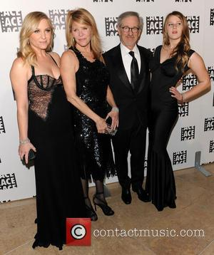 Kate Capshaw, Steven Spielberg and Jessica Capshaw