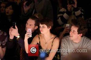 Dan Gillespie Sells, Pixie Geldof and Nick Grimshaw - LFW House of Holland Front Row at London Fashion Week -...