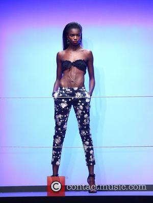 Rihanna and Model