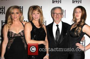 Jessica Capshaw, Kate Capshaw, Steven Spielberg and Sasha Spielberg