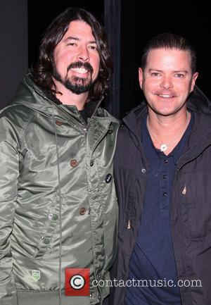 Dave Grohl and Clarke Thorell - Dave Grohl takes his daughters to the Broadway musical 'Annie' at the Palace Theatre...