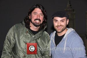 Dave Grohl and Dustin Harder - Dave Grohl takes his daughters to the Broadway musical 'Annie' at the Palace Theatre...